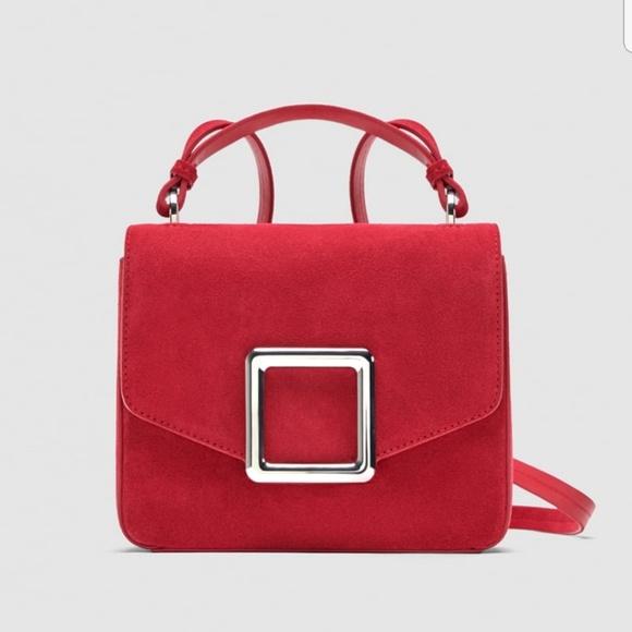 dbb0db7fee Brand New Zara Leather Crossbody Bag